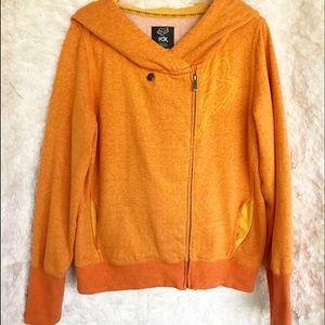 Fox Hooded Zip Front Sweatshirt